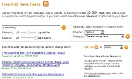 free feeds screenshot